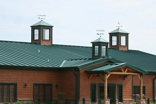Super Seam Metal Roof on a Commercial building