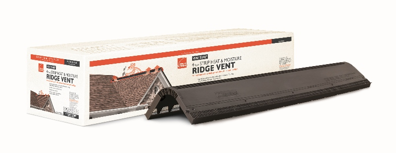 Owens Corning Ventilation Products Include A Ridge Vent